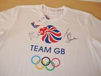 JONNY & ALISTAIR BROWNLEE GENUINE HAND SIGNED OFFICIAL TEAM GB T-SHIRT + COA
