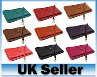 New PU Leather Womens Ladies Soft Wristlet Strap Card Zip Handbag Purse Wallet