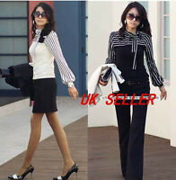 018 Womens Ladies Girls Striped Long Sleeved Top/T-shirt /Blouse
