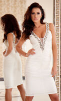 New Ladies Womens Cocktail Party Wedding Evening Sexy Formal Prom Gemstone Dress