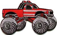 Monster truck 4 X 4 pickup auto racing ute applique iron-on patch new S-675