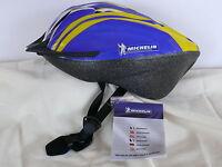 Fahrradhelm Michelin für Damen und Herren blau gelb Gr.L 54-61 cm Helm neu