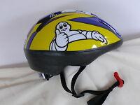 Fahrradhelm Michelin für Kinder blau gelb Gr.M 50-56 cm Kinderhelm Helm neu