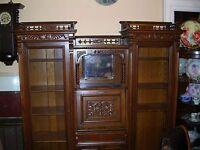 fabulous antique double secretary desk side by side quartersawn oak tyler desk