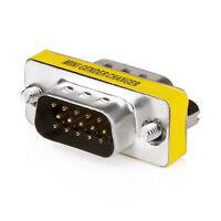15 HD/DB/15 VGA/SVGA KVM Gender Changer Adapter Male to Male M-M US Seller Ship