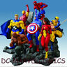 MARVEL NEW AVENGERS CAPTAIN AMERICA, WOLVERINE SPIDER-MAN COMPLETE SET 7 STATUE
