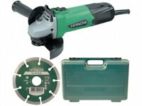 Hitachi G12SSCD Grinder 115mm + Diamond Blade + Case 240 Volt