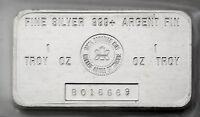 1 oz .Silver RCM Bar 999 Fine - Royal Canadian Mint Discontinued in 1988