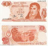 ARGENTINA 1 Peso Banknote World Paper Money UNC Currency BILL p287 Note Belgrano