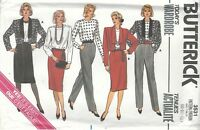 Butterick 3531Misses' Jacket, Blouse, Skirt and Pants  8, 10, 12  Sewing Pattern