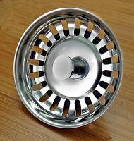 Stainless Steel kitchen Sink Strainer Waste Plug (McAlpine bwstss-top) chromex2