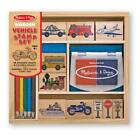 VEHICLES WOODEN STAMP SET #2409 ~16 pc KIT Melissa & and Doug