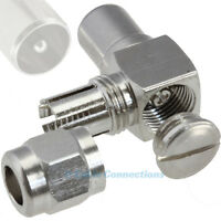 90 DEGREE COAX COAXIAL LCD SCREEN TV RIGHT ANGLED AERIAL CABLE PLUG CONNECTOR