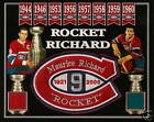 MAURICE RICHARD PHOTO TRIBUTE PATCH FORUM RED-BLUE SEAT
