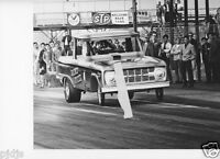 BRONCO BUSTER FORD FUNNY CAR LAUNCHING AT LIONS DRAG    8X10 DRAG RACING PHOTOS