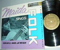 MAIDA Sings FOLK LP Israeli and Jewish
