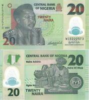 NIGERIA 20 Naira Banknote World UNC Currency Money BILL Africa p34b Polymer Note