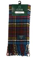 Scottish 100% Wool Tartan Clan Scarf Anderson!