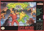 ***BATTLETOADS AND DOUBLE DRAGON SNES SUPER NINTENDO GAME COSMETIC WEAR~~~