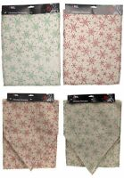 Christmas xmas Snowflake Glitter Placemats or Table Runner Decoration Red Green