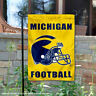 Michigan Wolverines Football Helmet Garden Flag and Yard Banner