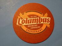 OHIO Beer Coaster ~*~ COLUMBUS Brewing Company & Restaurant ~*~ Established 1997