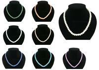New Small Faux Pearl Beaded Chain Necklace Many Colours Available