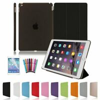 "7.9"" / 9.7"" Smart Stand Cover With Hard Back Case for Apple iPad 4 3 2 Mini Air"