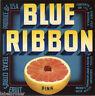 CRATE LABEL VINTAGE TEXAS 1940s CITRUS BLUE RIBBON MERCEDES TYPOGRAPHY RARE