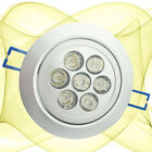 7W LED Ceiling Down Light Recessed Fixture Cool White Cabinet Lighting 110v 240v