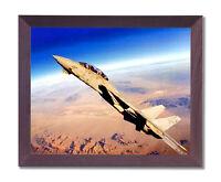Grumman F-14 Tomcat Fighter Jet Aircraft Airplane Cherry Framed Art Print