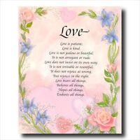 Love Poem Motivational Flower Wall Picture Art Print