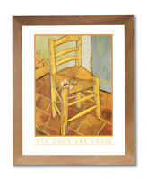 Vincent Van Gogh Chair Pipe Flowers Wall Picture Honey Framed Art Print