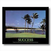 SUCCESS Motivational Golf Wall Picture Art Print