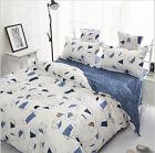 New Cotton Blend Queen Size Bed Pillowcase Quilt Duvet Cover Set
