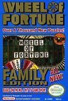 WHEEL OF FORTUNE FAMILY EDITION NES NINTENDO GAME COSMETIC WEAR