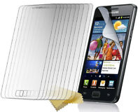 10 x CLEAR / FILM / SCREEN / LCD PROTECTOR & CLOTH FOR SAMSUNG GALAXY S 2 I9100