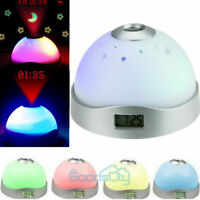 Magic Starry Projection Digital LED Projector Alarm Clock Night Light Colorful