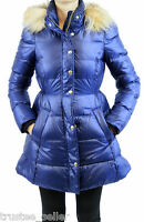 NWT Juicy Couture Blue Faux Fur Puffer Hoodie Coat Winter Jacket  XS S, M, L, XL