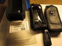 für Siemens S 25  Leder Tasche Dreh Clip schwarz