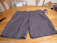 Men's shorts Hurley pin stripe 28 black casual walk skate NEW NWT surf brand