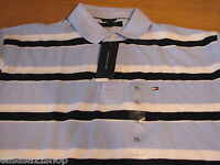 Men's Tommy Hilfiger Polo shirt stripe NEW 7811732 blue 469 RARE NWT knit small