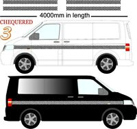 CHEQUERED STRIPE VINYL STICKERS GRAPHICS DECALS VW & CAMPERS FITS ANY VEHICLE