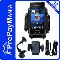 New Micro USB in Car Charger & Windscreen Holder for Sony Ericsson Xperia Ray