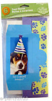 PUPPY PARTY FAVOR BOXES (6) ~ Birthday Party Supplies Favors Goody Treat Loot