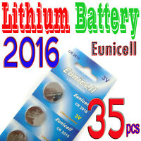 35 x CR2016 5000LC 3V Lithium Button Cell Coin Battery
