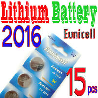 15 x CR2016 5000LC 3V Lithium Button Cell Coin Battery