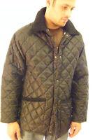 New English Mens Quilted Padded Riding Jacket Coat Black XS S M L XL XXL XXXL