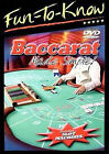 Fun-To-Know - Baccarat Made Simple (DVD, 2005) New Most Elegant Casino Game