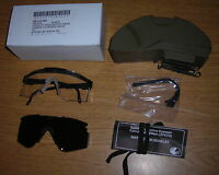 GENUINE US ARMY ISSUE MSA SPECTACLE KIT BALLISTIC SHOOTING GLASSES NEW !!!